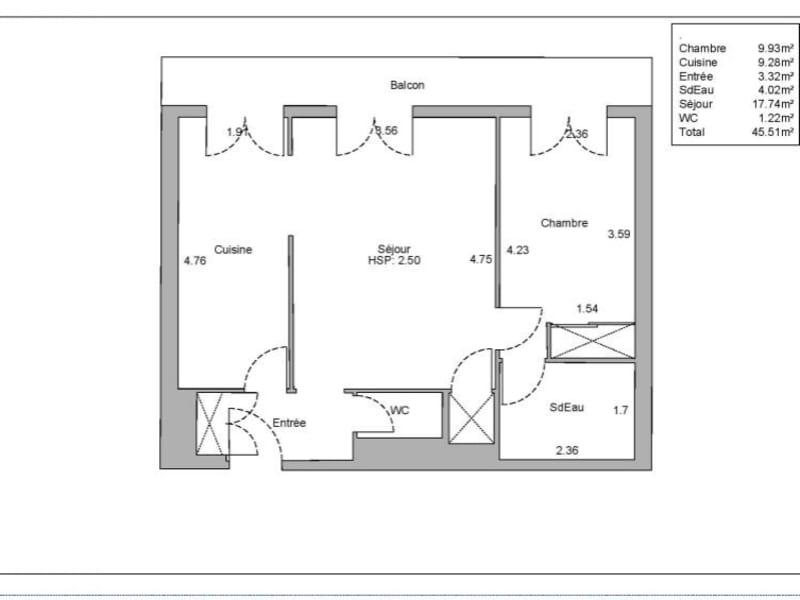 Vente appartement Paris 15ème 498000€ - Photo 2
