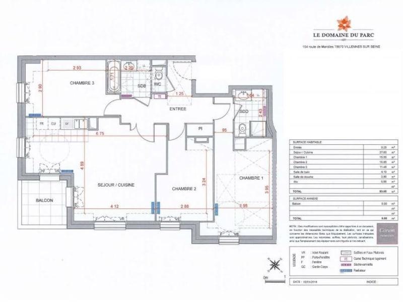 Sale apartment Villennes sur seine 485000€ - Picture 7