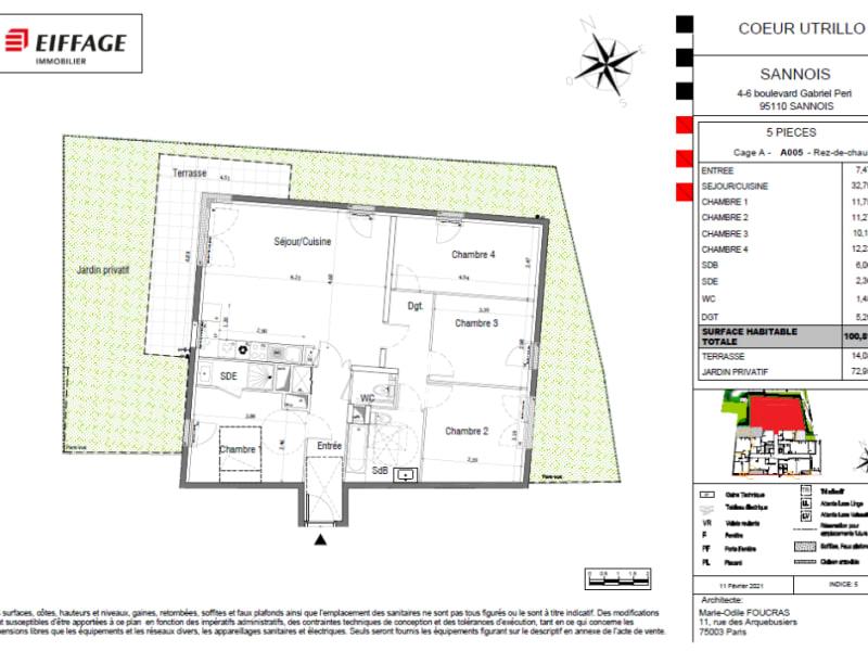 Sale apartment Sannois 500000€ - Picture 4