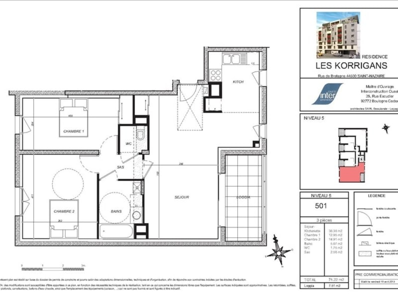 New home sale apartment St nazaire  - Picture 4