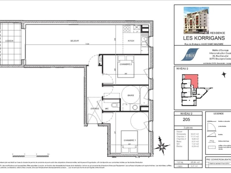 New home sale apartment St nazaire  - Picture 5