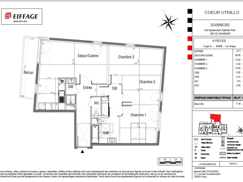 Vente appartement Sannois 449258€ - Photo 4