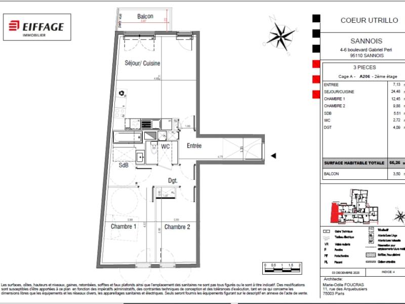 Vente appartement Sannois 353318€ - Photo 4