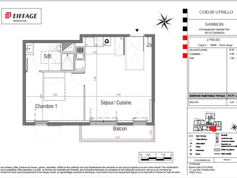 Vente appartement Sannois 270000€ - Photo 4