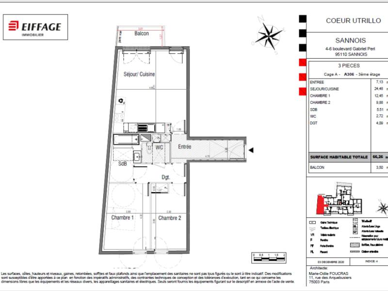 Vente appartement Sannois 352293€ - Photo 4