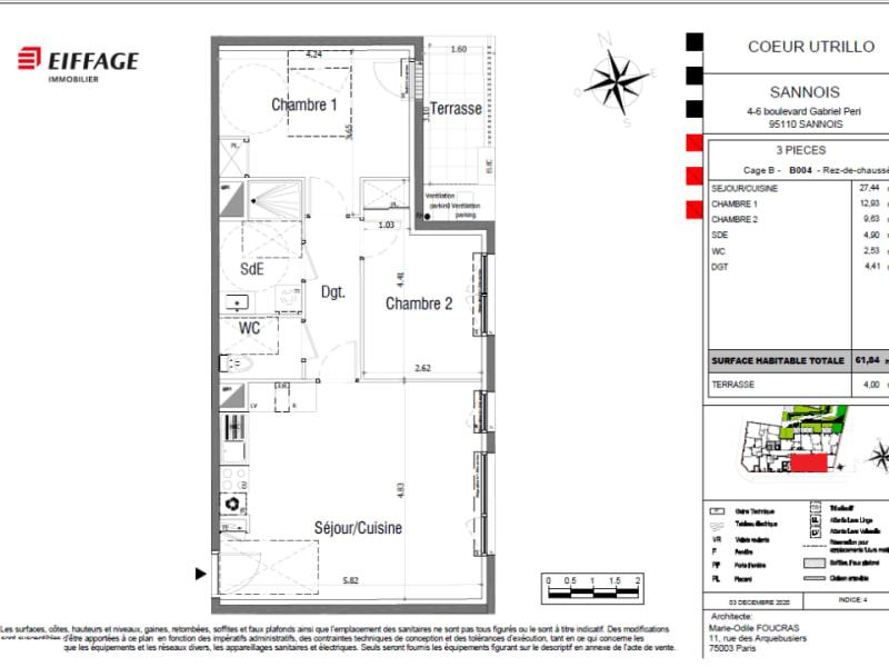Vente appartement Sannois 294483€ - Photo 4
