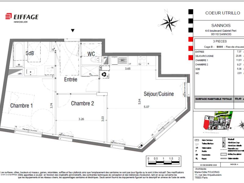Vente appartement Sannois 291818€ - Photo 4
