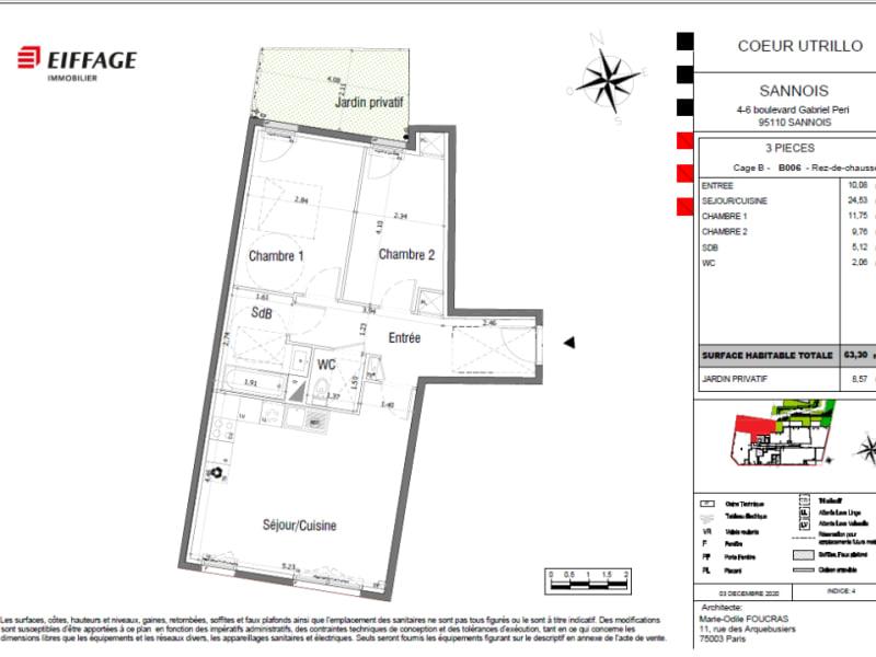 Vente appartement Sannois 315000€ - Photo 4