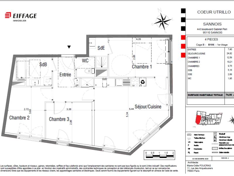 Vente appartement Sannois 384068€ - Photo 4