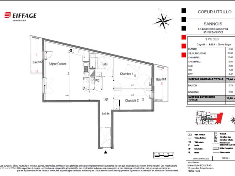 Vente appartement Sannois 372792€ - Photo 4