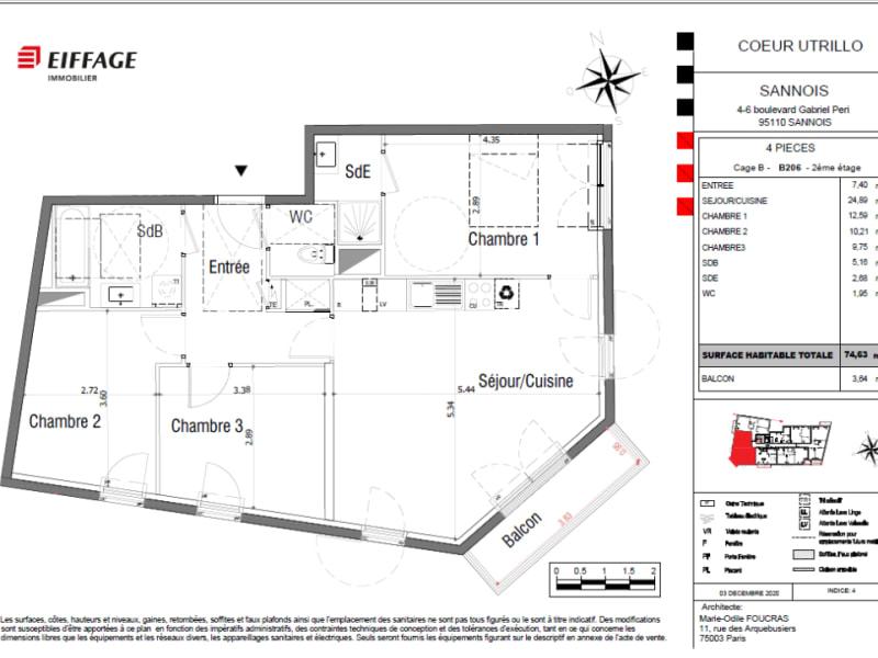 Vente appartement Sannois 389193€ - Photo 4