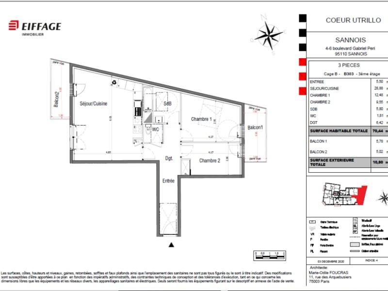 Sale apartment Sannois 375000€ - Picture 4