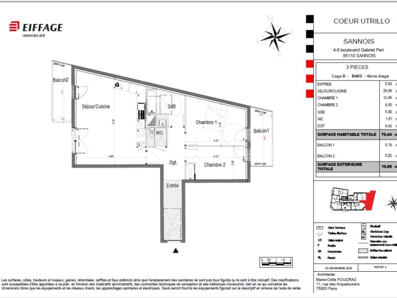 Sale apartment Sannois 378738€ - Picture 4