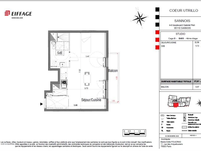 Vente appartement Sannois 253000€ - Photo 4