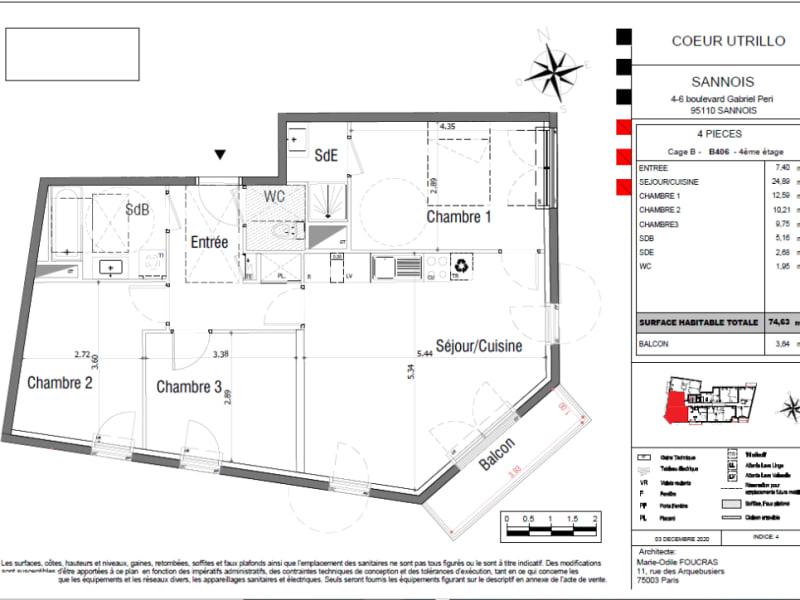 Vente appartement Sannois 407643€ - Photo 4