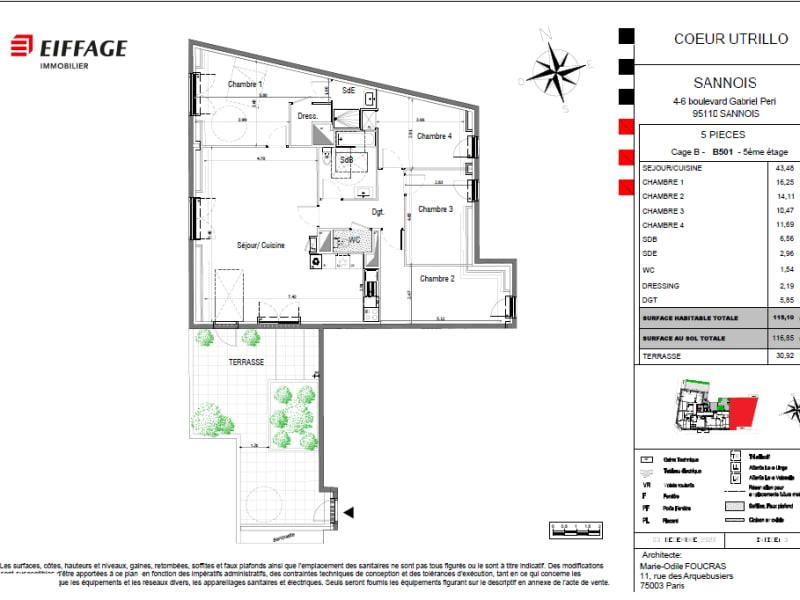 Sale apartment Sannois 630000€ - Picture 4