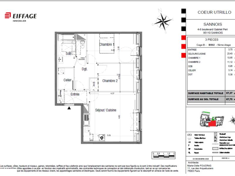 Sale apartment Sannois 359673€ - Picture 4