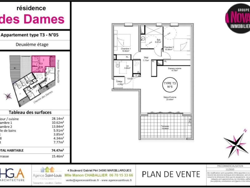 Sale apartment Marsillargues 246500€ - Picture 5
