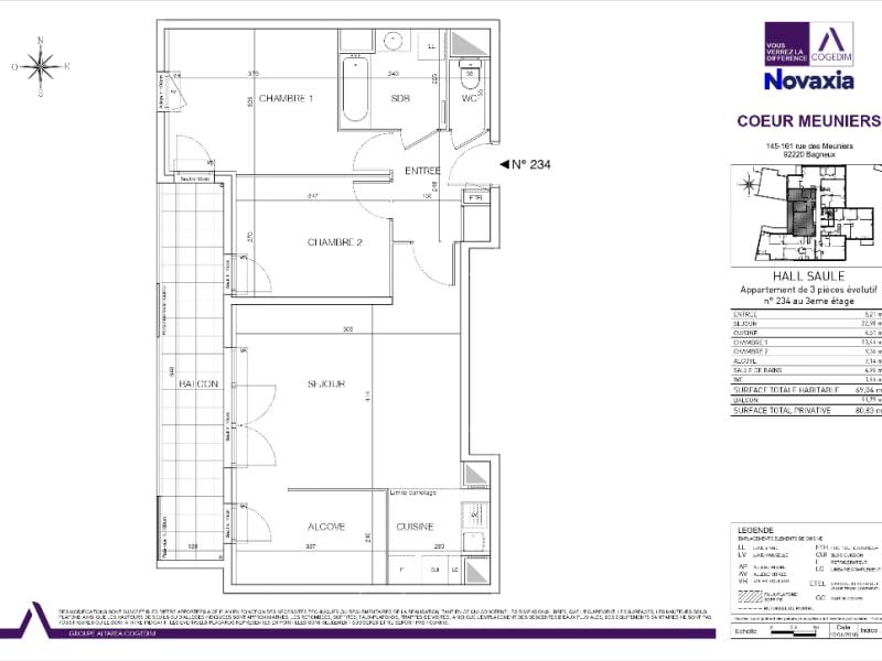 Rental apartment Bagneux 1374€ CC - Picture 2