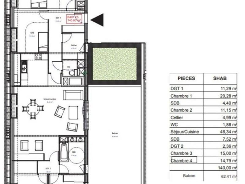 Sale apartment Bezannes 527086€ - Picture 11