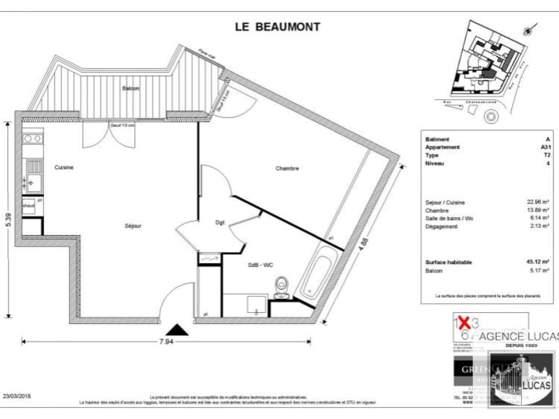 Rental apartment Savigny sur orge 740€ CC - Picture 2