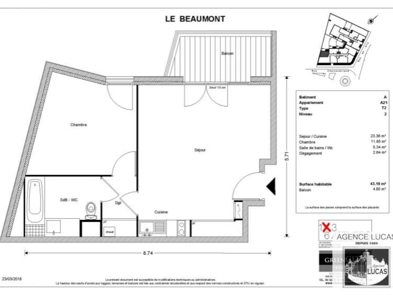 Location appartement Savigny sur orge 730€ CC - Photo 2