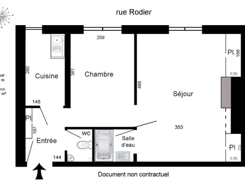 Vente appartement Paris 9ème 425000€ - Photo 2