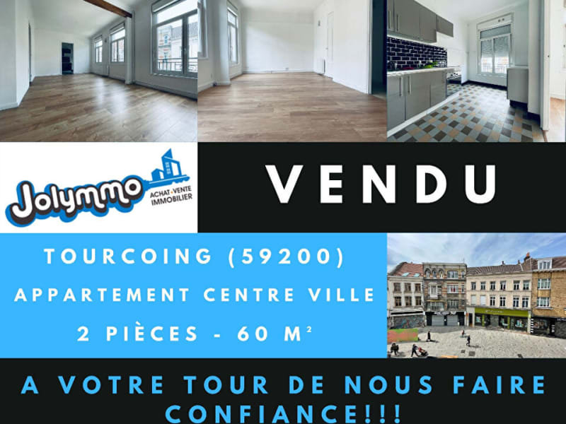 Vente appartement Tourcoing 85000€ - Photo 1