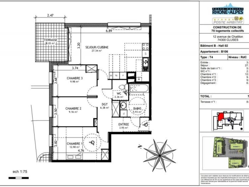 Sale apartment Cluses 203000€ - Picture 6
