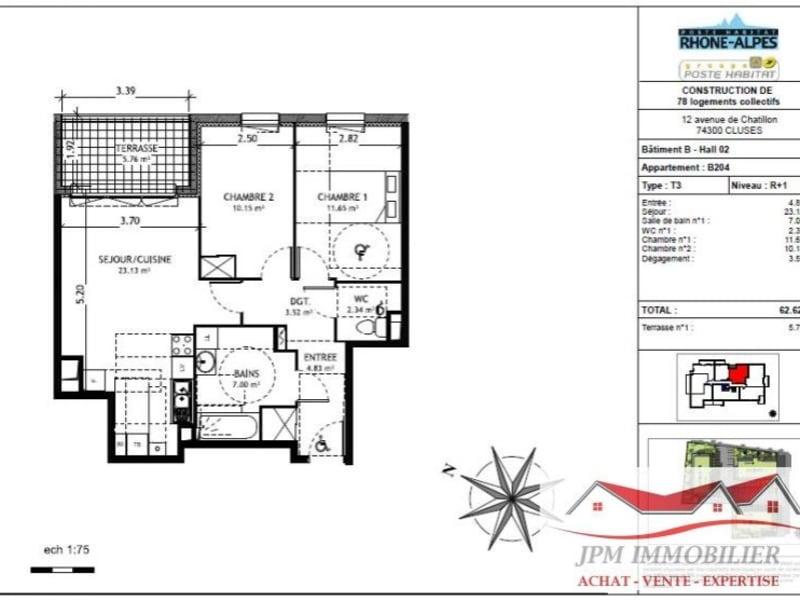 Venta  apartamento Cluses 169500€ - Fotografía 6