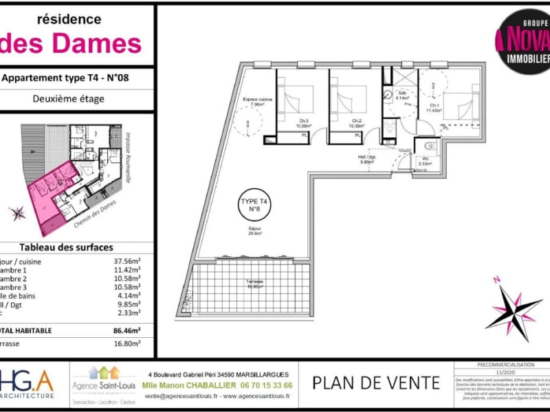 Vente appartement Marsillargues 274000€ - Photo 3