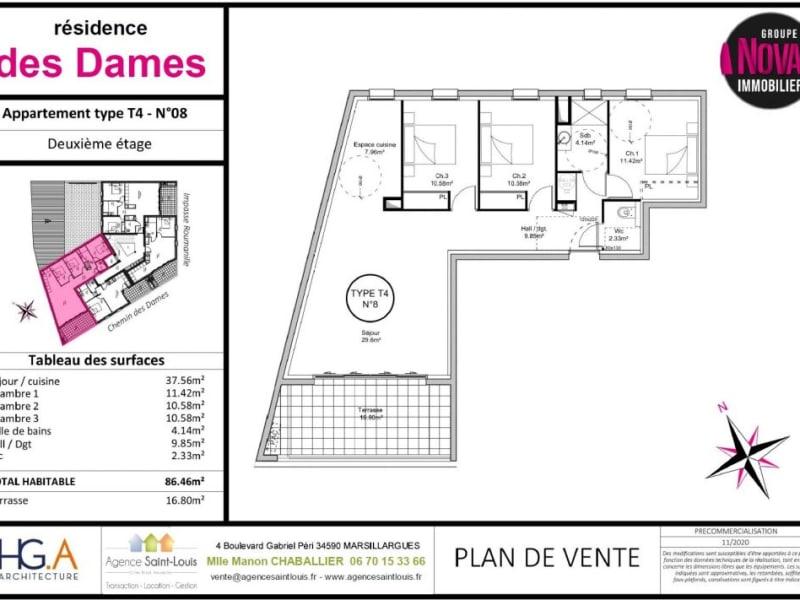 Venta  apartamento Marsillargues 274000€ - Fotografía 3
