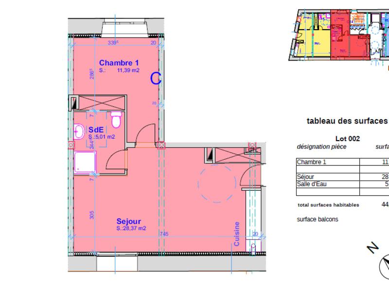 Vente appartement Pont l abbe 148000€ - Photo 4