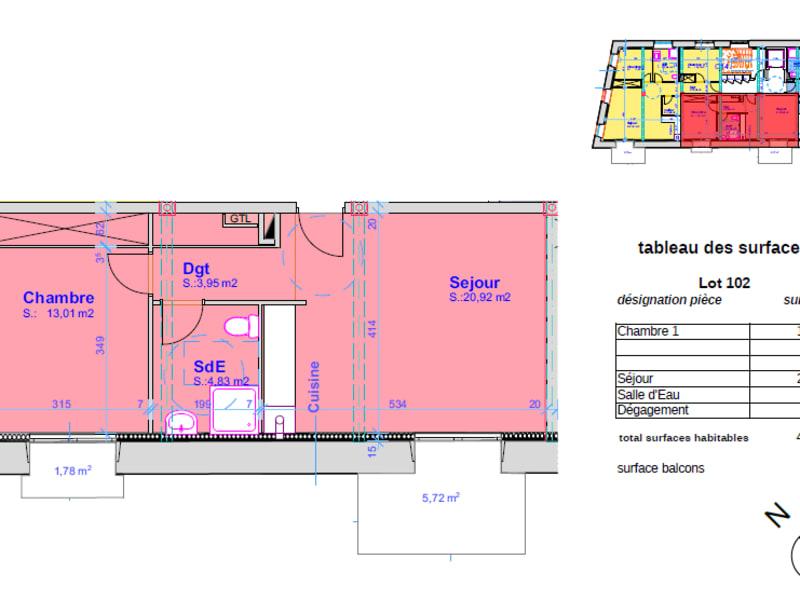 Vente appartement Pont l abbe 164000€ - Photo 4