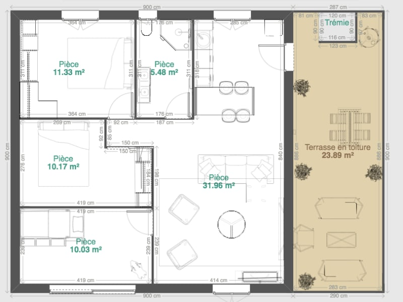 Vente appartement Cenon 230000€ - Photo 9