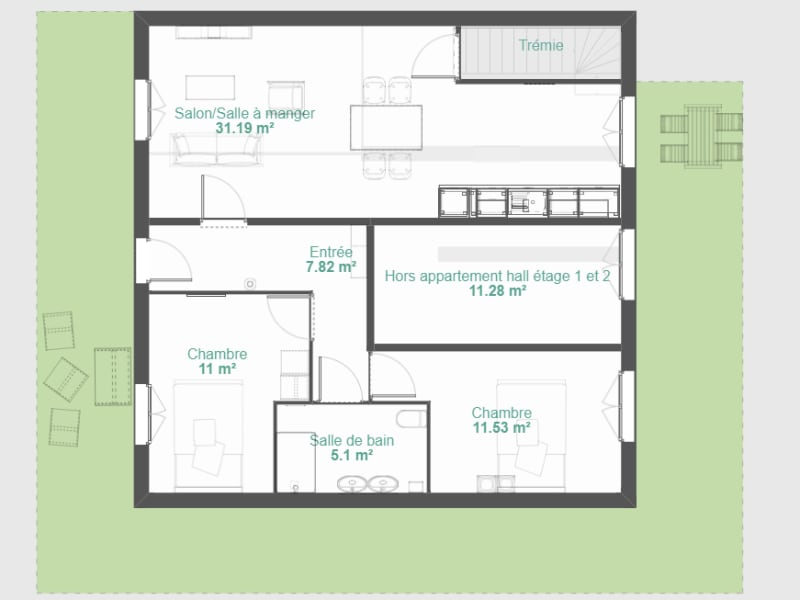 Sale apartment Saint quentin fallavier 176500€ - Picture 2