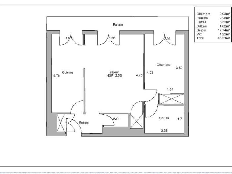 Vente appartement Paris 15ème 430000€ - Photo 2