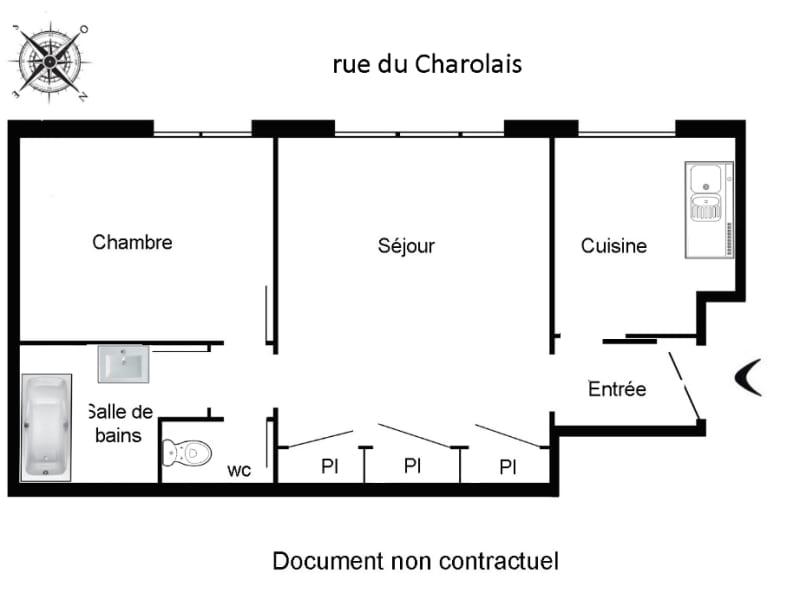 Rental apartment Paris 12ème 1152€ CC - Picture 2