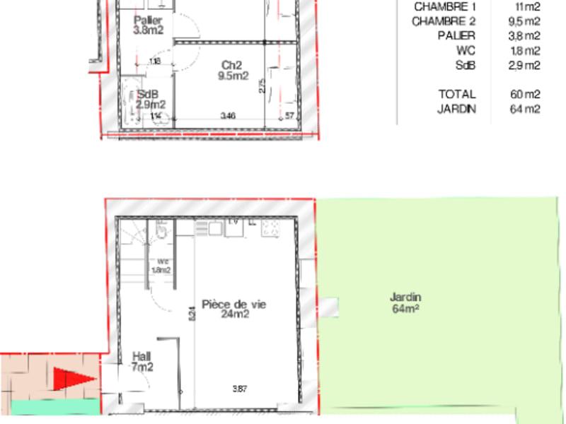 Vente maison / villa Faumont 130000€ - Photo 2