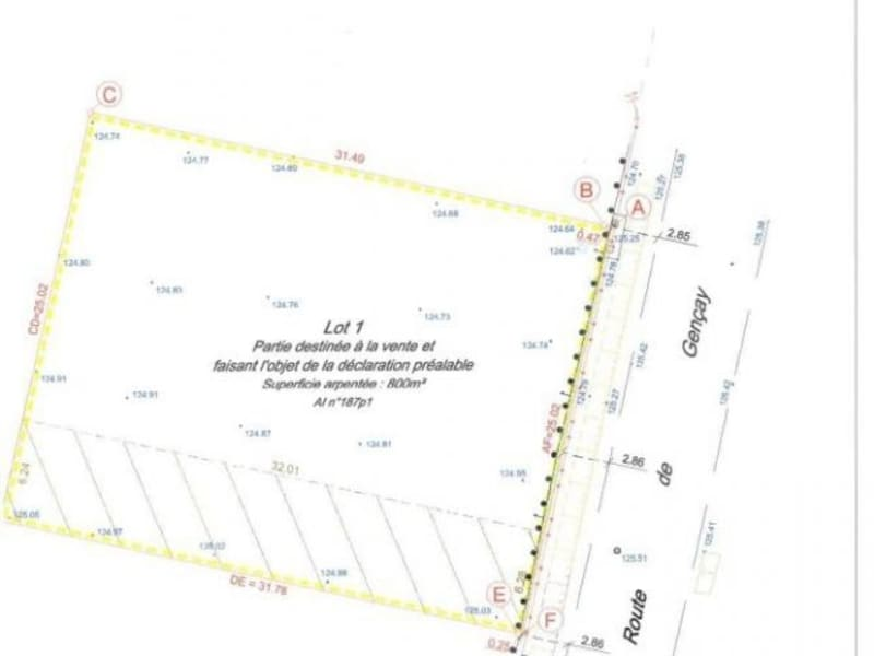 Vente terrain Fleure 39000€ - Photo 2