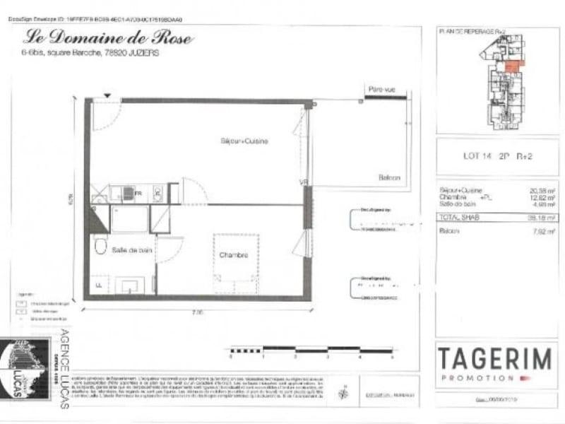 Rental apartment Juziers 680€ CC - Picture 2
