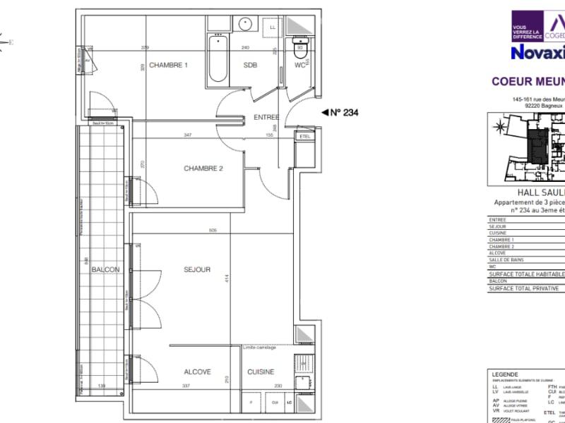 Rental apartment Bagneux 1425,08€ CC - Picture 2