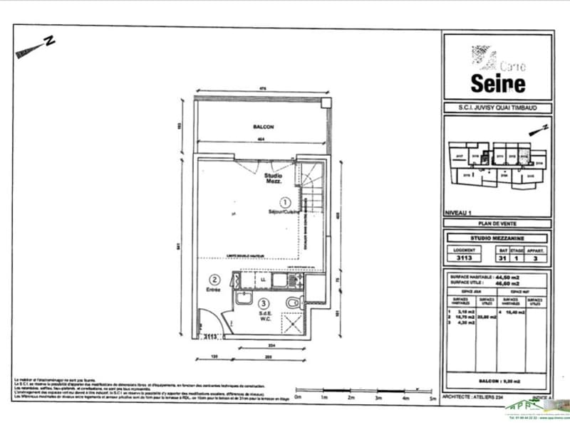 Rental apartment Juvisy sur orge 776,87€ CC - Picture 2
