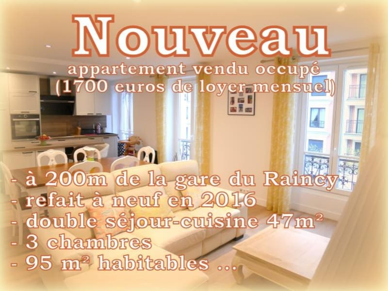 Vente appartement Le raincy 498000€ - Photo 1