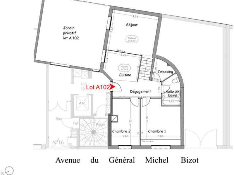 Av Michel Bizot 3 P LIVRÉ RÉNOVER 60m² + 40m² de JARDIN