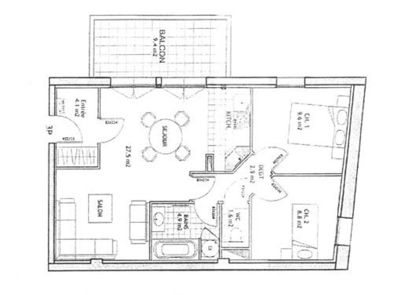 Vente appartement Berstett 156500€ - Photo 4