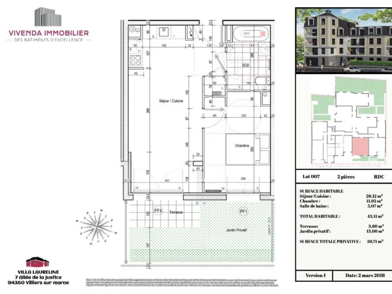 Location appartement Villiers sur marne 850€ CC - Photo 2