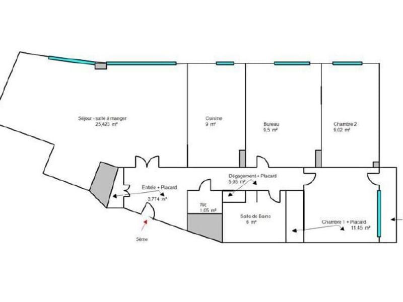 Sale apartment Boulogne billancourt 725000€ - Picture 14