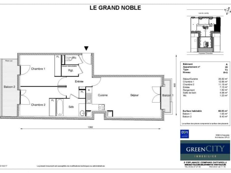 Rental apartment St ouen 1215€ CC - Picture 2