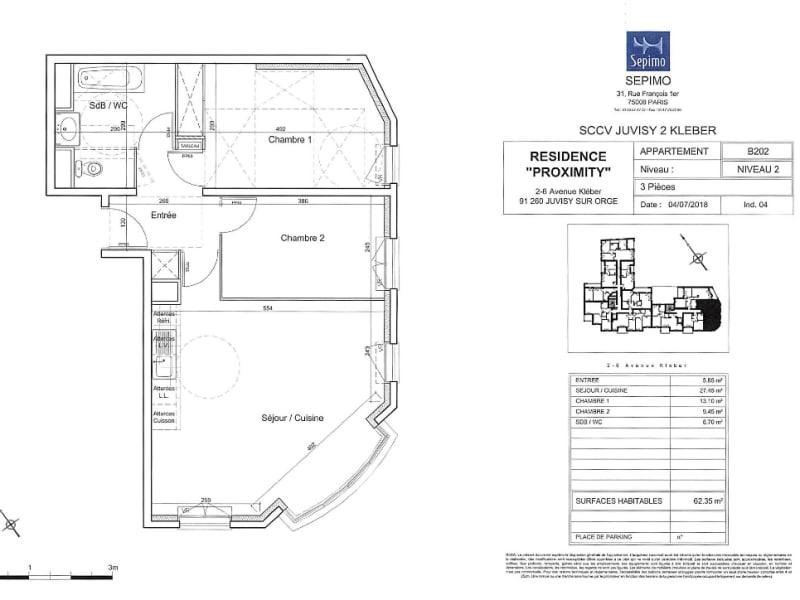 Rental apartment Juvisy sur orge 1029€ CC - Picture 2